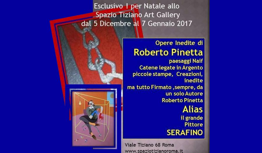Ristorante Roma Spazio Tiziano - mostra Roberto Pinetta