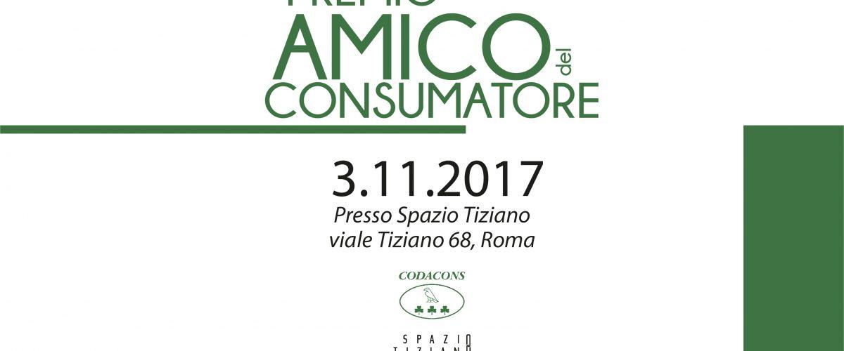 A Spazio Tiziano il Premio Amico del Consumatore 2017